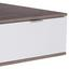 Konferenčný Stolík Nagos - farby dubu/biela, Moderný, kompozitné drevo (115/47,3/67cm)