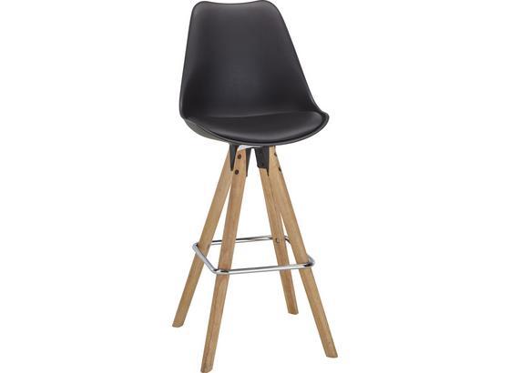Barová Stolička Durham - hnedá/čierna, Moderný, kov/drevo (48,5/111,5/55cm)