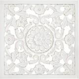 Nástenná Dekorácia Salomon - biela, Moderný, drevo (60/60/2cm)