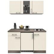 Küchenblock Eico 150cm Magnolie - Edelstahlfarben/Eichefarben, MODERN, Holzwerkstoff (150/60cm)