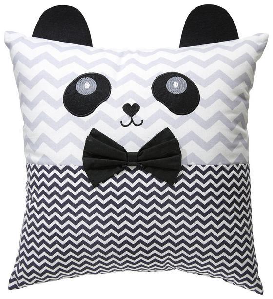 Polštář Ozdobný Panda - bílá/černá, textil (40/40cm) - Mömax modern living