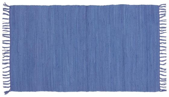 Handwebteppich Annika 70x120 cm - Blau, KONVENTIONELL, Textil (70/120cm) - Ombra