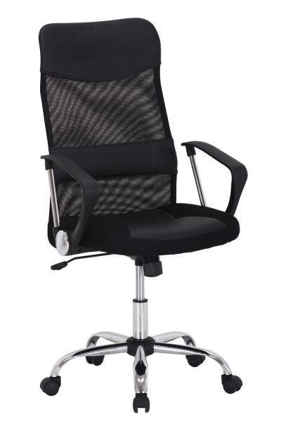 Forgószék Grado - krómszínű/fekete, modern, műanyag/textil (60/109-119/61,5cm)