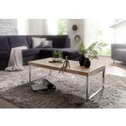 Couchtisch Holz Massiv Guna, Akaziefarben B:60cm - Chromfarben/Akaziefarben, Design, Holz/Metall (120/60/40cm) - MID.YOU