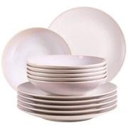 Tafelservice Ossia 12-Tlg - Rosa, Basics, Keramik - Mäser