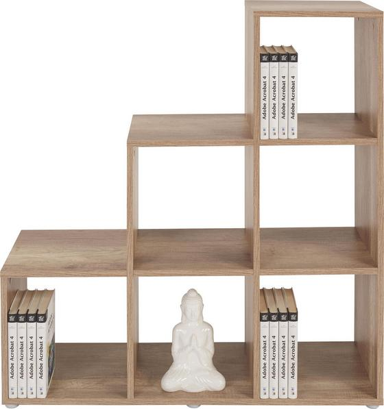 Raumteiler Pisa 3 - Eichefarben, MODERN, Holz (112/114/35cm)