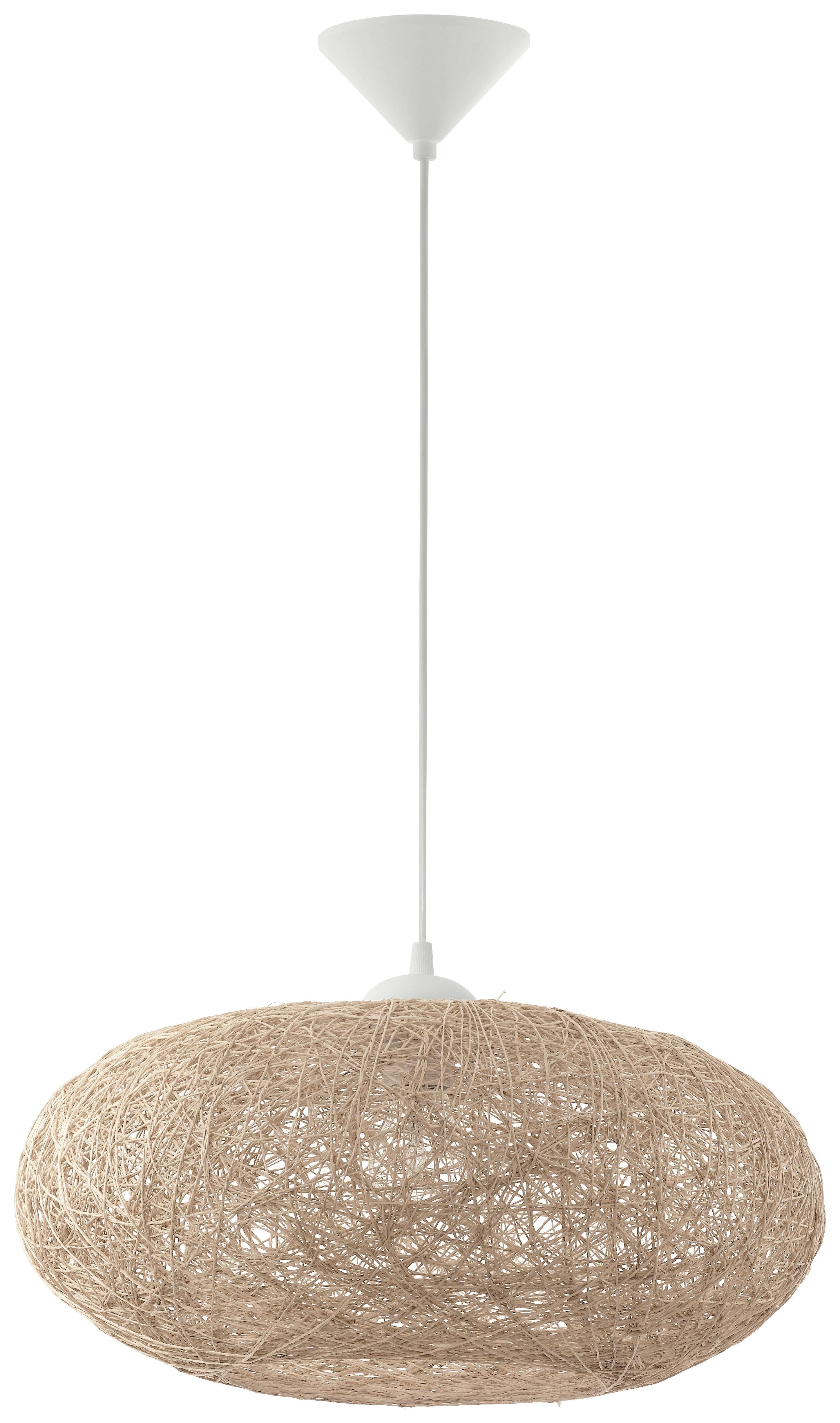 Hängeleuchte Campilo - Beige/Weiß, MODERN, Kunststoff/Textil (45/110cm)