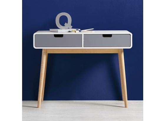 Písací Stolík Daniela - sivá/biela, drevo (100/76/38cm) - Modern Living