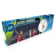 Volleyballset Badminton-Set Blau - Blau/Gelb, Basics, Leder/Kunststoff (310/168/3,3cm)