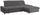 Wohnlandschaft in L-Form Credo ca. 297x200cm - Chromfarben/Grau, MODERN, Textil (297/200cm)