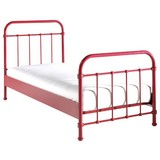 Kinder-/Juniorbett New York 90x200 cm Rot - Rot, ROMANTIK / LANDHAUS, Metall (90/200cm) - MID.YOU