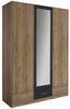 Ruhásszekrény Bühl - tölgy színű/szürke, modern, fa (136/197/54cm)