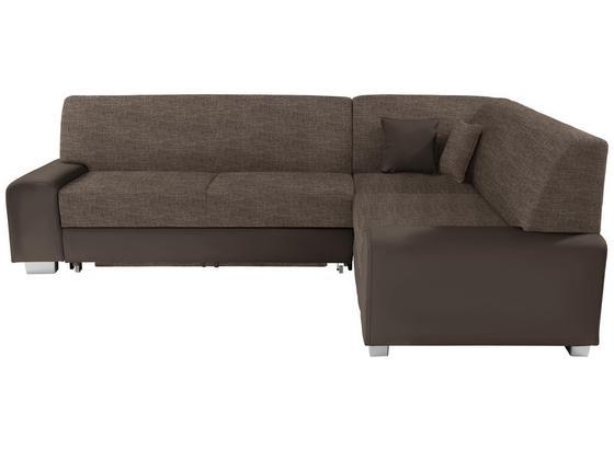 Sedacia Súprava Miami - hnedá/bahenná hnedá, Basics, drevo/textil (260/210cm)