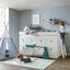 Vysoké Spanie Tuk -exklusiv- - biela, Romantický / Vidiecky, drevo/kompozitné drevo (203,6/121/95cm) - Premium Living
