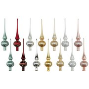 Christbaumspitze Trude - Champagner/Rot, ROMANTIK / LANDHAUS, Glas (27cm) - James Wood
