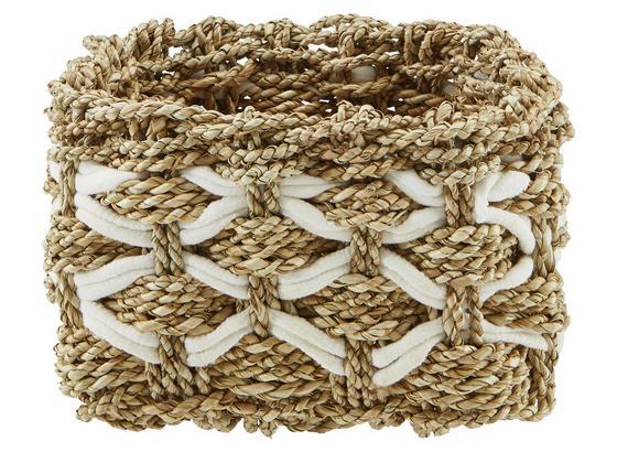 Korb Arti Braun/weiß - hnedá/biela, Štýlový, drevo/textil (22/15/22cm) - Mömax modern living
