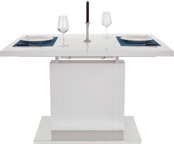 Výsuvný Stôl Raymond 120 Az - biela/farby nerezovej ocele, Moderný, kov/kompozitné drevo (120-160/76/80cm)