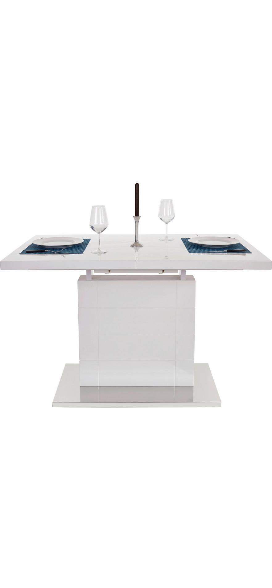 18bbb83a37e3 Výsuvný Stôl Raymond 120 Az - biela farby nerezovej ocele