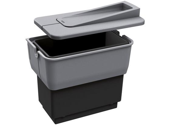 Abfallsammler Blanco Singolo - Hellgrau/Schwarz, Basics, Kunststoff (36/22/36,5cm) - Blanco