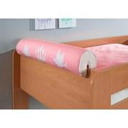 Nackenrolle Rosa/Weiß - Rosa/Weiß, Design, Textil (80/16/16cm)