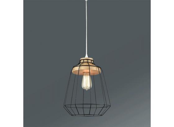 Svítidlo Závěsné Jari - černá/přírodní barvy, Moderní, kov/dřevo (25/120cm) - Mömax modern living