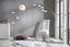 Állólámpa Curve - Fehér, konvencionális, Kő/Műanyag (100/200cm)