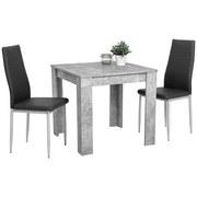 Tischgruppe Duo G - Grau, MODERN, Holzwerkstoff/Textil (80/74/80cm)