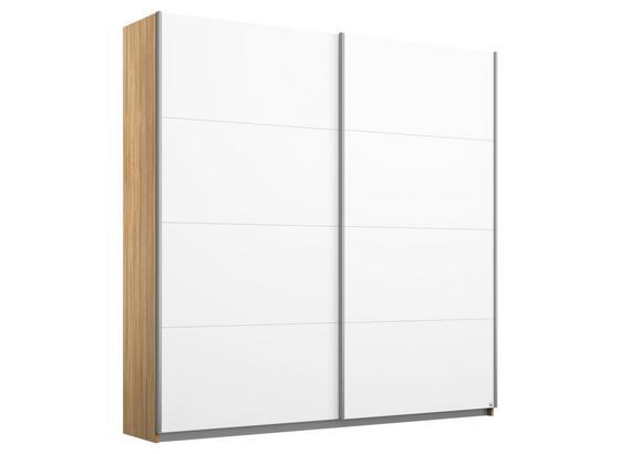 Schwebetürenschrank Belluno B:181cm Weiß/ Eiche Dekor - Weiß/Sonoma Eiche, MODERN, Holzwerkstoff (181/210/62cm)
