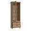 Vitrína Nepal - barvy smrku, Konvenční, kov/kompozitní dřevo (75,6/209,2/45cm)