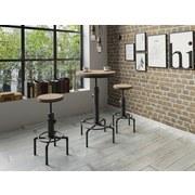 Bartisch Solid D: 60 cm Schwarz/Bambus - Schwarz, MODERN, Holz/Metall (60/97/60cm) - Livetastic