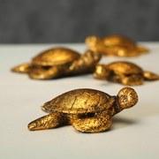 Dekoschildkröte Knut - Goldfarben, LIFESTYLE, Kunststoff (11/9/3,5cm)