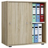 Aktenschrank Lona L B: 70 cm Eiche Dekor - Sonoma Eiche, Basics, Holzwerkstoff (70/74/40cm) - MID.YOU