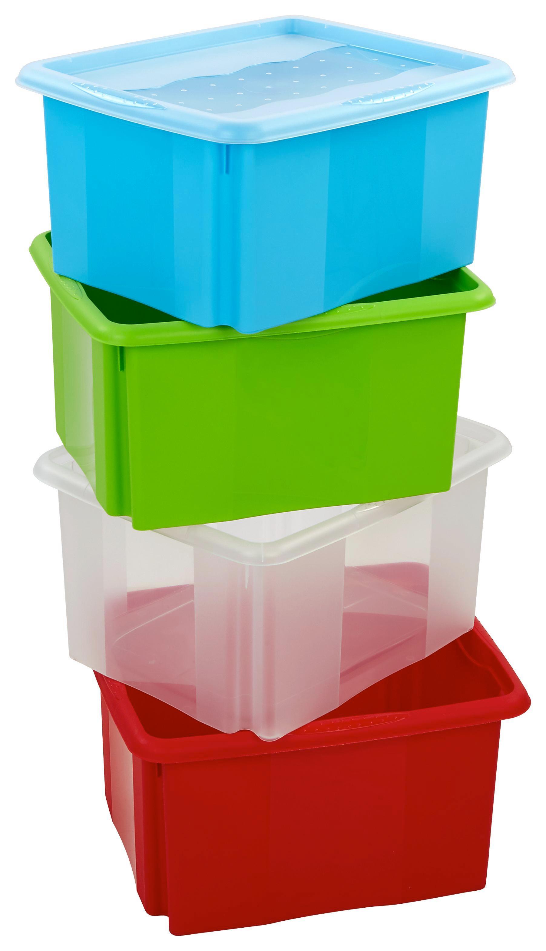 Doboz Emil - piros, konvencionális, műanyag (41/34,5/22cm)