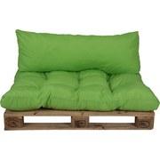 Palettenkissen 2-Tlg. Loungeset - Grün, KONVENTIONELL, Textil (120/80/16cm)