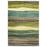 Webteppich Mo 60/110 - Blau/Gelb, MODERN, Textil (60/110cm)