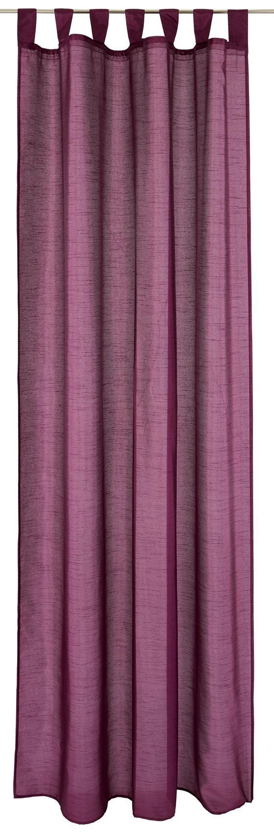 Készfüggöny Silke - bézs/lila, konvencionális, textil (140/255cm)
