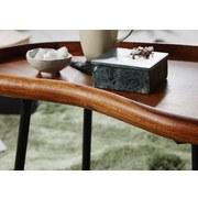 Couchtisch Holz mit Massiver Tischplatte, Sheesham/Schwarz - Sheeshamfarben/Schwarz, Design, Holz/Metall (71/40/42cm) - Livetastic