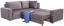 Sedacia Súprava Giovanni - sivá/béžová, Moderný, drevo/textil (277/217cm) - Ombra