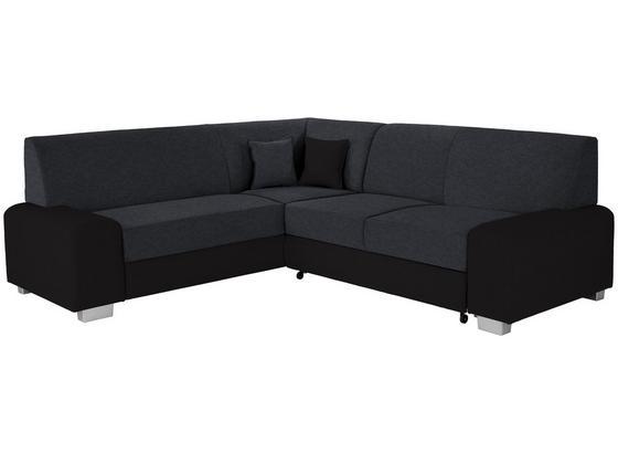 Sedací Souprava Miami - černá, Basics, dřevo/textil (210/260cm) - Ombra