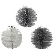 Dekobälle Tarvo - Silberfarben, MODERN, Kunststoff (11cm)