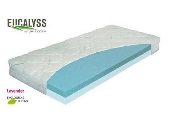 Matrace Eukalyss Vakuo 90 - bílá, textil (90/200cm)