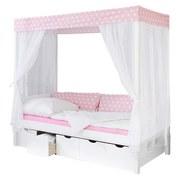 Himmelbett Lino 90x200 cm Rosa/Weiß - Rosa/Weiß, MODERN, Holz (90/200cm) - MID.YOU
