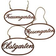 Dekoschild Traumgarten - Rostfarben, Basics, Metall (38cm)