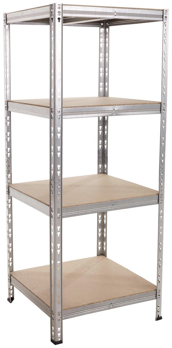Regal Carlo 1 - MODERN, Holzwerkstoff/Metall (60/146/50cm)