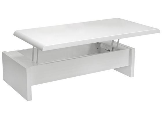 Konferenční Stolek Daytona - bílá, Moderní, kompozitní dřevo (120/35-60/60cm) - Mömax modern living