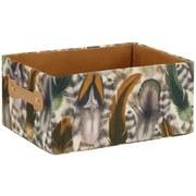 Regalkorb M - KONVENTIONELL, Karton/Textil (31/22/14cm)