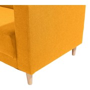 Ecksofa mit Holzfüßen Geneve, Webstoff - Gelb/Naturfarben, MODERN, Textil (144/217cm)