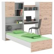 Jugendzimmer Start-up - Eichefarben/Weiß, KONVENTIONELL, Holzwerkstoff (278,2/187,3/232,2cm)