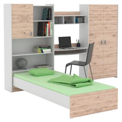 Jugendzimmer in Weiß und San Remo Eiche Dekor