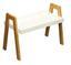 Beistelltisch Scandi Weiß - Naturfarben/Weiß, MODERN, Holz/Holzwerkstoff (62,5/45/32cm) - Ombra
